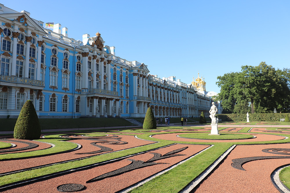 Catherine the Great Palace later in the day st petersburg russia