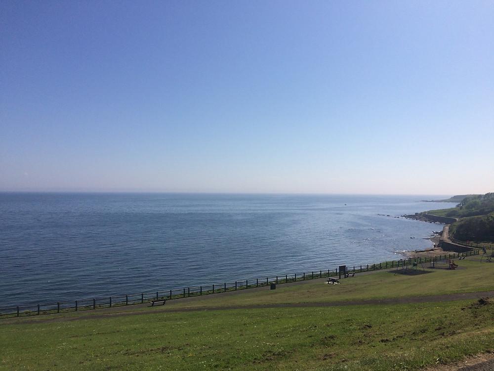 Coastline of Crail along the Fife Coastal Path, Scotland