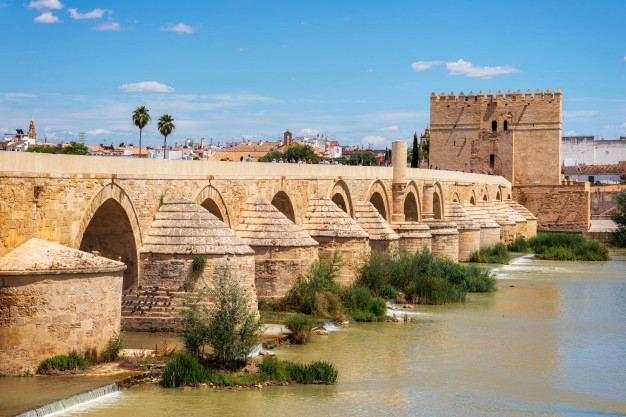 The Roman bridge of Cordoba (Puente Romano) in southern Spain