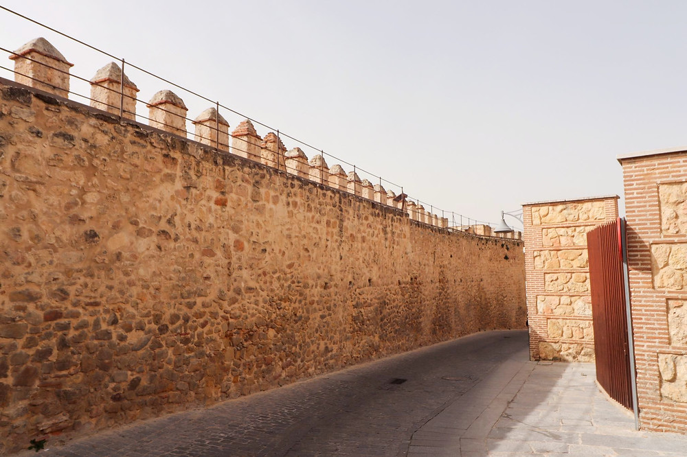 Part of the medieval wall that goes around the city of Segovia.