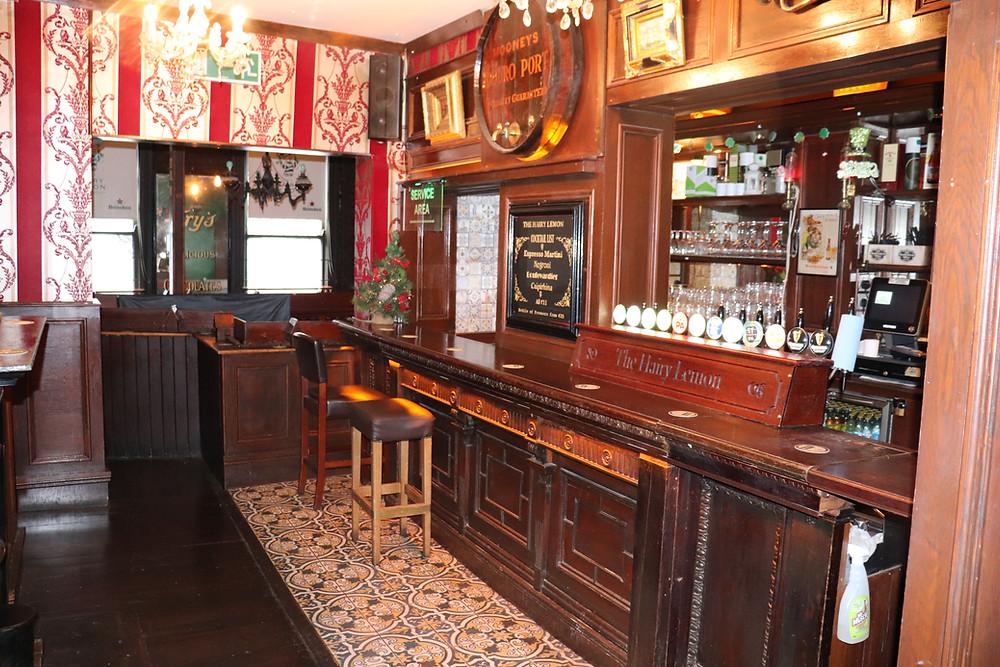 Inside The Hairy Lemon pub in Dublin Ireland