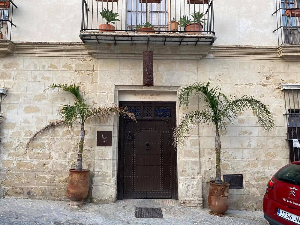 Hammam Andalusí entrance from the street in Jerez, Cadiz, Spain