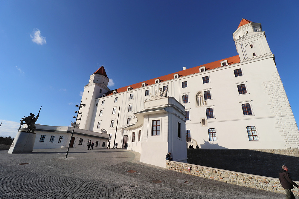 Bratislava Castle from the outside in Slovakia