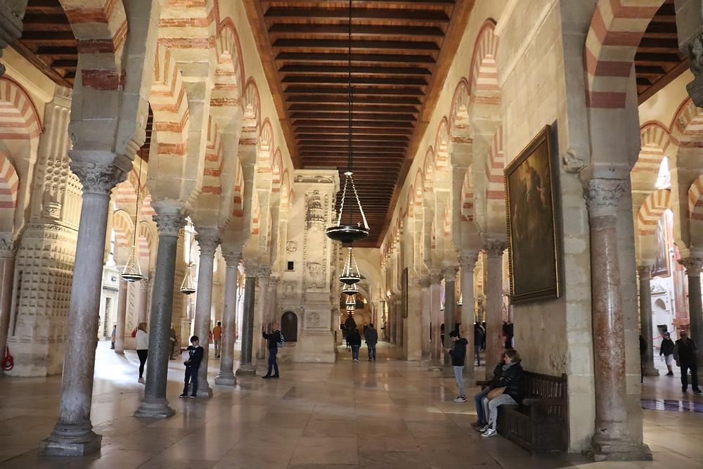 Inside the Mezquita in Cordoba Spain