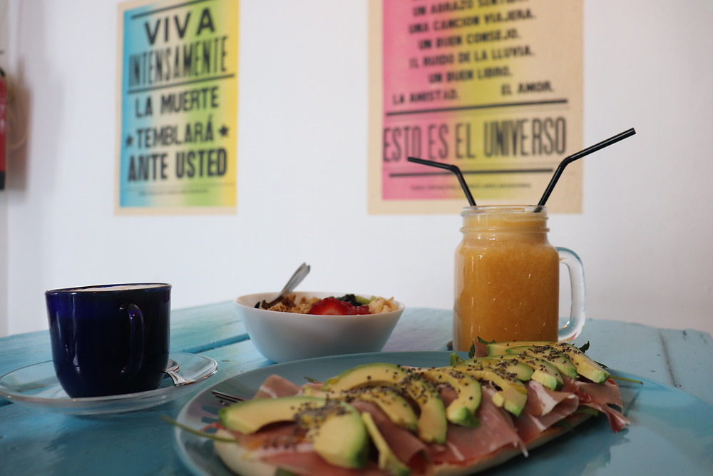 Brunch at Maddow Coffee Shop in Cordoba Spain