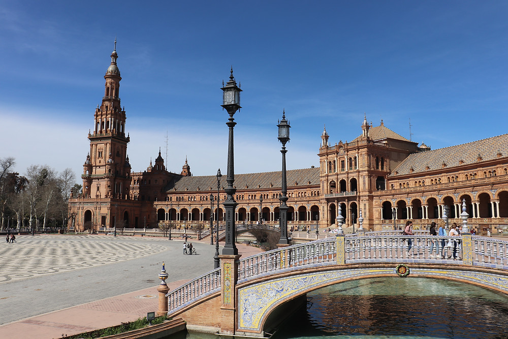 Plaza de Espana in summer in seville spain