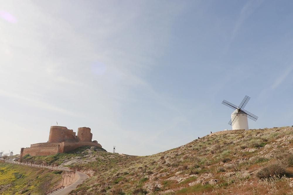 Consuegra castle and windmills near Toledo Spain