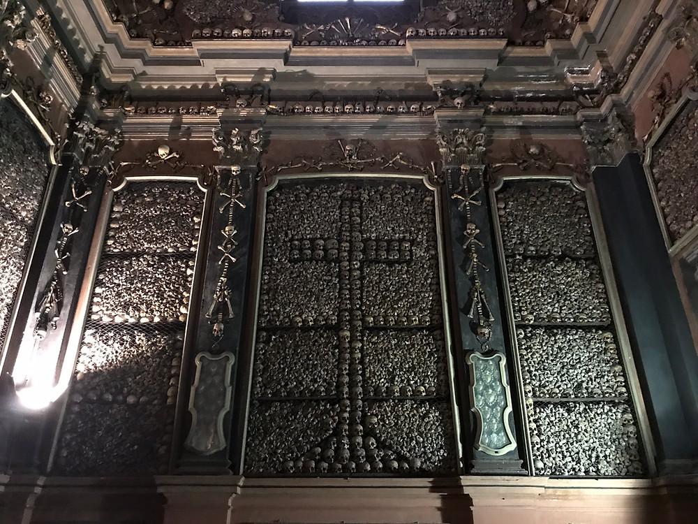 San Bernardino alle Ossa skull and bone church Milan Italy