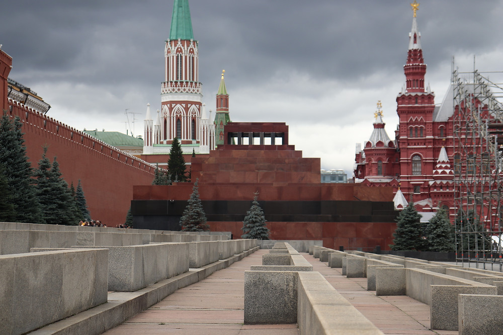 Lenin's Mausoleum in the red square moscow russia