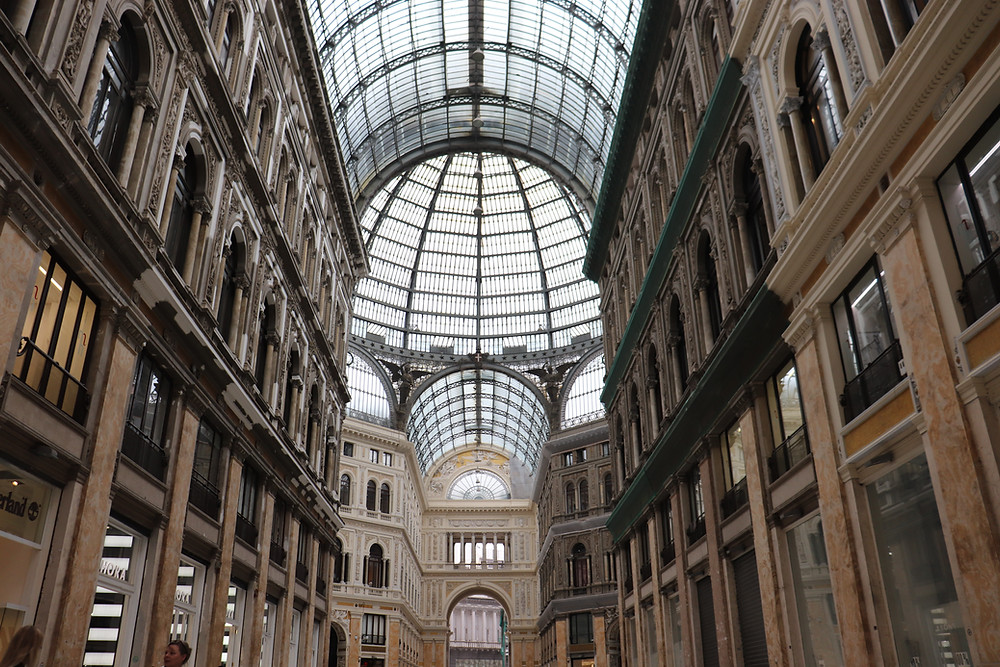 Galleria Umberto I indoor shopping gallery in Naples Italy