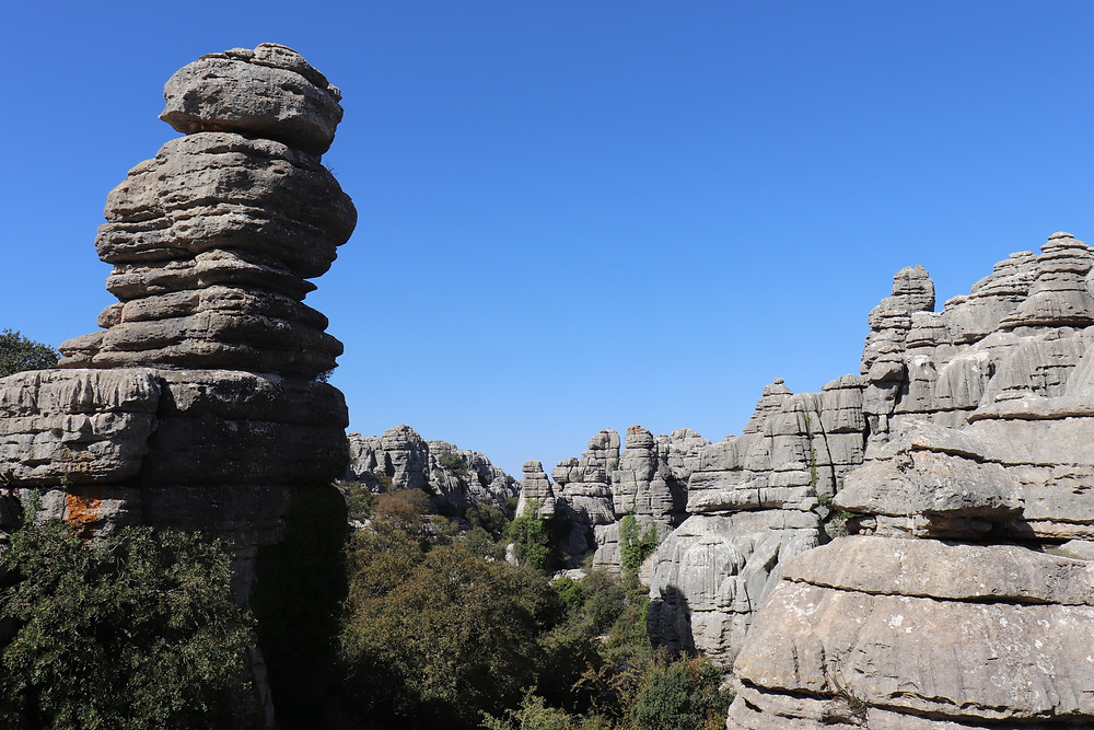 El Torcal de Antequera natural limestone park in southern spain