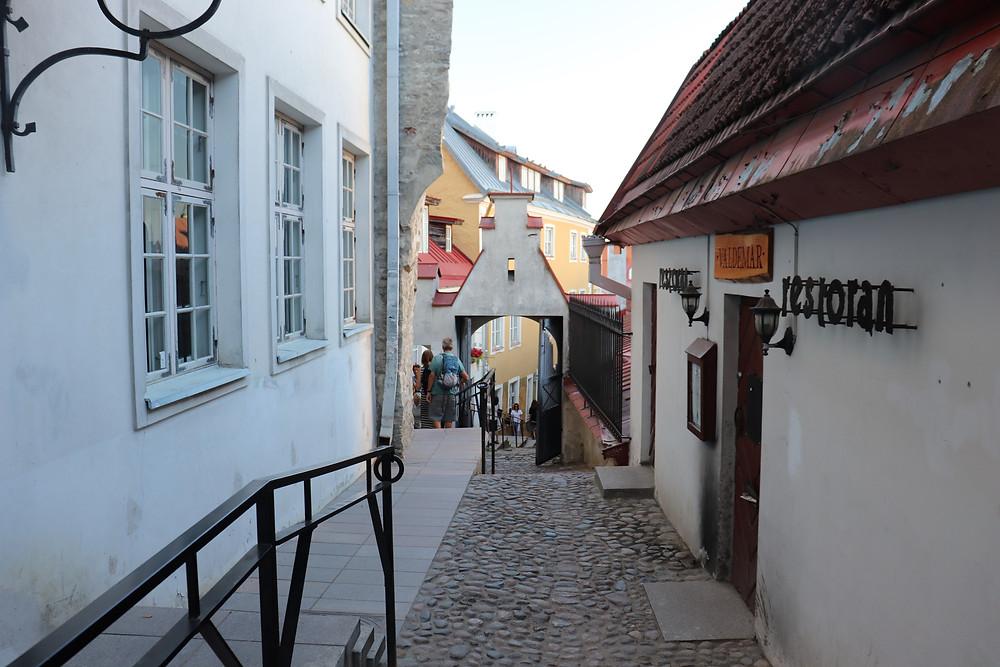 Lühike jalg medieval shopping street Tallinn Estonia