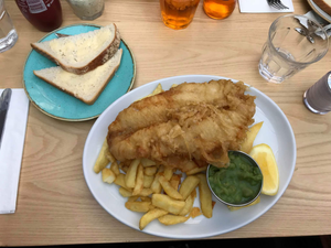 Tailend fish and chips in St Andrews, Scotland
