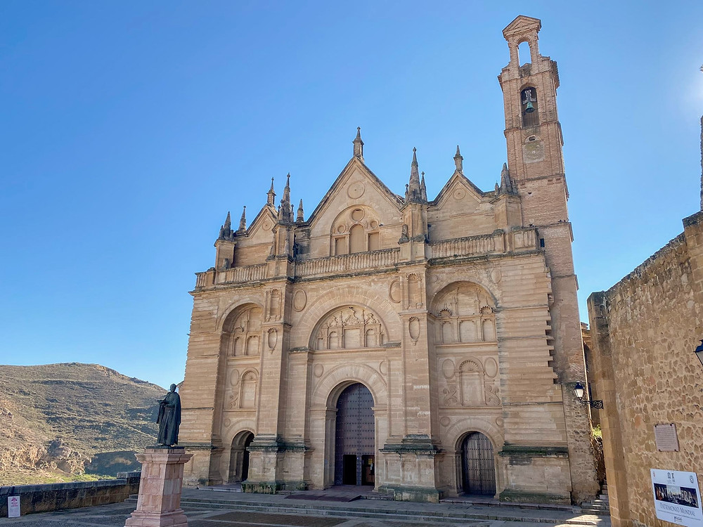 Real Colegiata de Santa María la Mayor from beside the church's plaza showing the full height of the building in Antequera