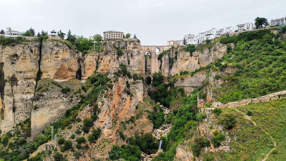 View from below of ronda southern spain