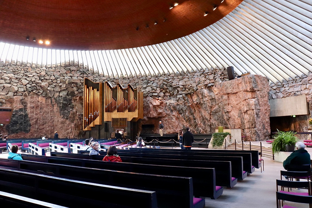 Temppeliaukio Rock Church interior, Helsinki Finland