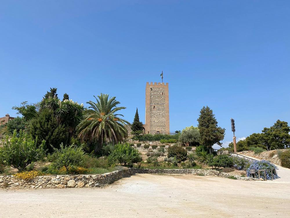 Castillo de Vélez-Málaga castle tower on a sunny day in southern Spain