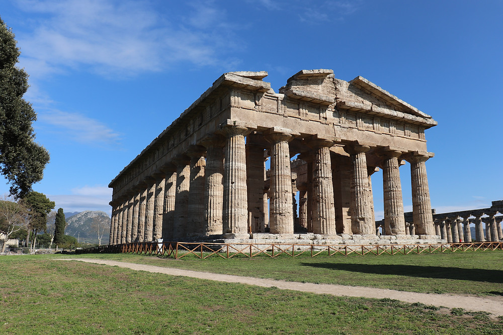 Ancient ruins of Paestum in Cilento Italy