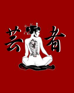 Geisha 4 Red