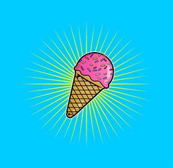 Ice Cream blue