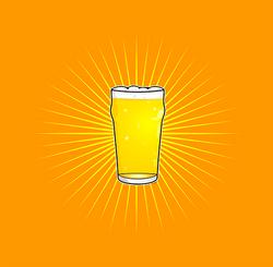 Beer Pint Orange small 7200