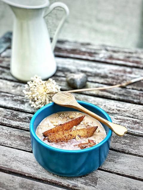 Yoga Cuisine ❤ Bratapfel-Porridge Lieblingsrezept