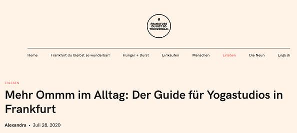 yogastudios in Frankfurt und nadine gerh