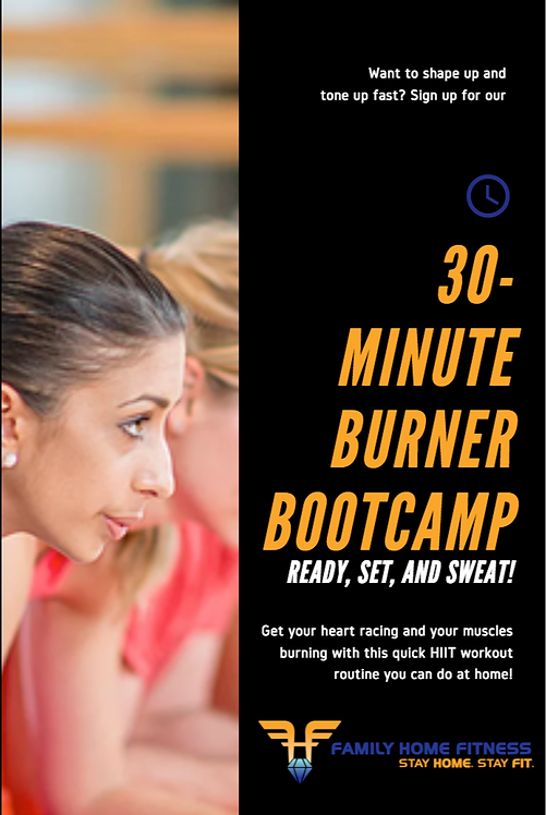FLYER FAMILY HOME FITNESS BOOT CAMP 1