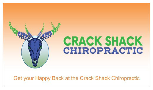 MARK Crack Shack Chiropractic Business Cards