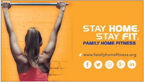 Chris Family Home Fitness Business Cards