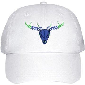 Printed hats - White