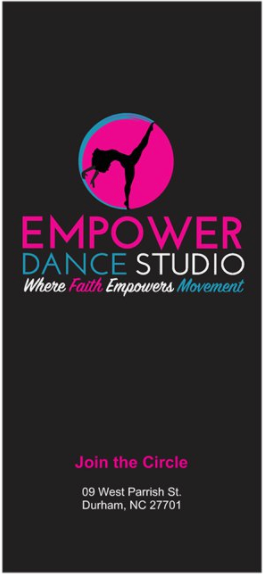 Empower Dance Rack Card