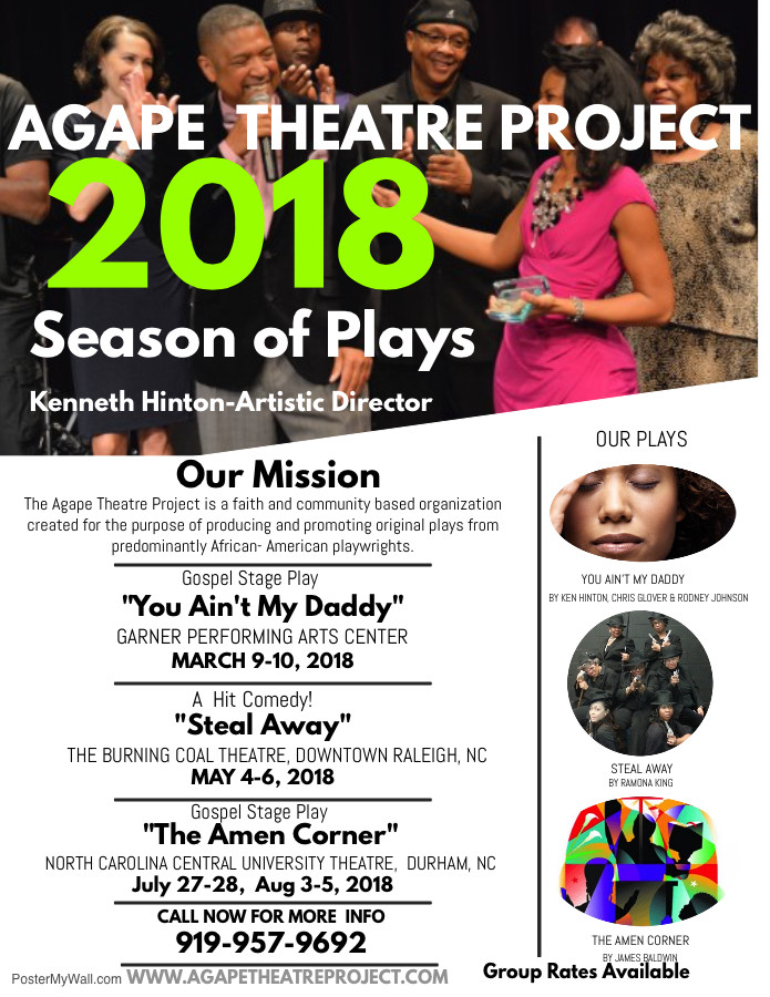 Agape Theatre project 2018 schedule