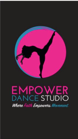 J.Burroughs Empower Dance Studio Business Cards