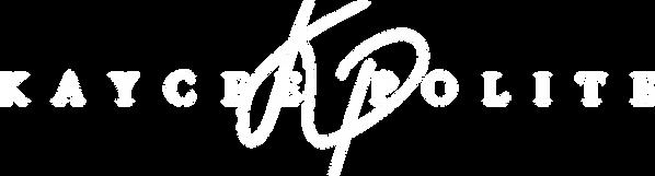 Kaycee Polite - Logo (White).png