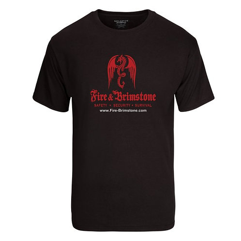 Fire Brim stone Dry blend 50/50 T-Shirt l black