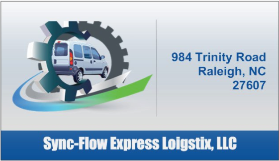 Sherice Gorham  Sync-Flow Express Loigstix,  Business Cards