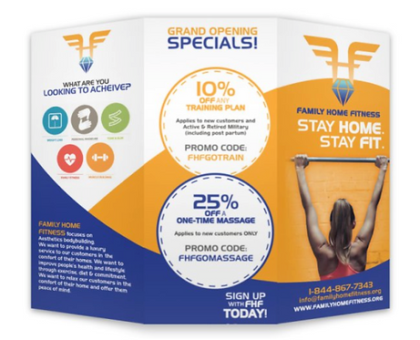 500 Family Home Fitness8.5 x11 Tri Fold Brochures