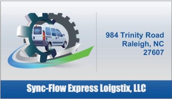 Shawn Finn  Sync-Flow Express Loigstix,  Business Cards