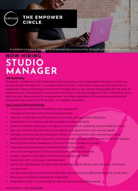 Studio Manager