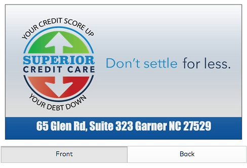 Superior Credit Care Cards Greg Frank