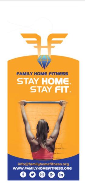 500 Family Home Fitness Large Door Hangers