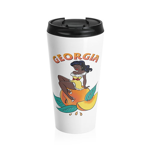 Georgia Peach Stainless Steel Travel Mug