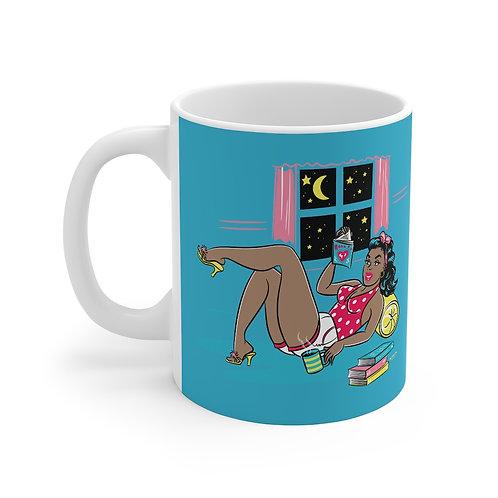 11oz Ceramic She Reads Mug 11oz