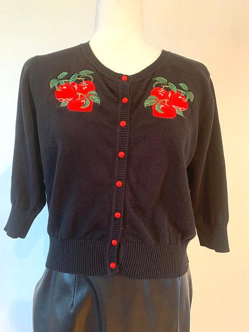 Cherry Design Cardigan-Size XL-UK 16/US 14
