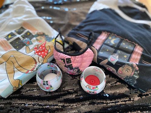 She Reads Bundle #1  (2 candles, T-Shirt, Mask, Hoodie & Mug)