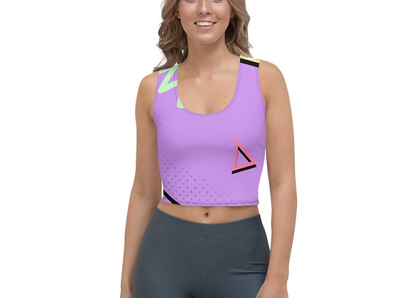 1980's Lilac Cropped top