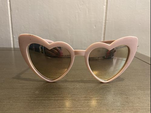 Vintage inspired pink sunglasses