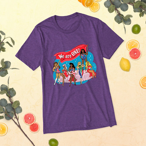 We Are One Pin Up Tee (Purple)
