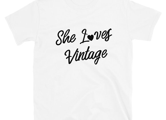 She Loves Vintage Classic White Tee